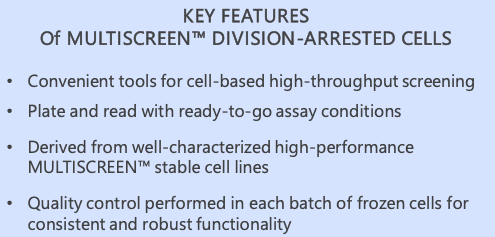 Key features of MultiScreen™ division-arrested cells